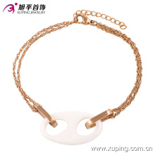 Jóias de aço inoxidável rosa de ouro jóias pulseira de cerâmica em liga para as mulheres -74233