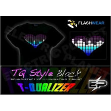 [Super Deal]Wholesale fashion hot sale T-shirt A3,el t-shirt,led t-shirt