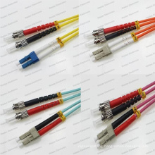 LC-St Sm/mm/Om1/Om2/Om3/Om4 Dx 2.0/3.0 PVC/LSZH Optical Fiber Patch Cord