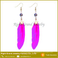 2017 Hot Sale Charm Earring For Woman Feather Metal Pendant Earring