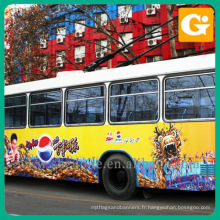 Autocollant de véhicule sur le grand autobus pour la publicité