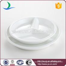 Prato de jantar rodada de porcelana de preço de fábrica