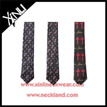 Ties for Men Latest Designs with Cross Christian Men Tie