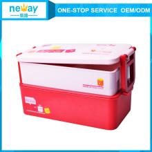 Caixa de almoço plástica portátil do produto comestível dos utensílios de mesa