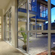 Umweltfreundliche stile aluminium glas vorhang wandbefestigung