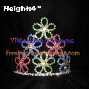 4inch Flower Colorful Pageant Crowns