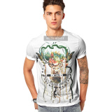 Wholesale Price 3D Printed T Shirt 100% Polyester Custom Men's T Shirts