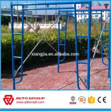 Échafaudage de cadre enduit de poudre de construction standard américain à vendre
