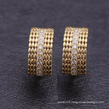Saudi 2016 Pictures of Small Gold Huggie Earrings