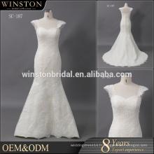 Chine alibaba fournisseur 2017 vente chaude sans bretelles nouvelles robes de mariée de style