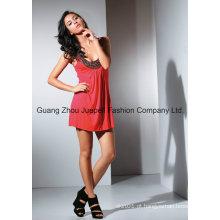 Moda sexy Knit Rayon Beaded Necklance Tops