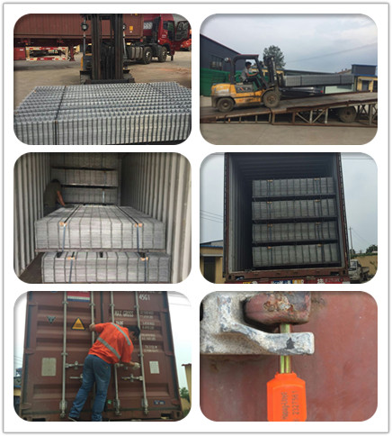loading photo of welded fence panel