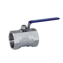 Válvula de esfera de aço inoxidável de uma peça