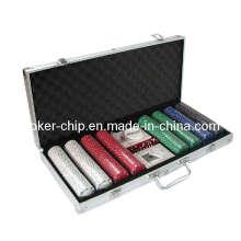La viruta de póker 400PCS fijó en la caja de aluminio de la esquina cuadrada (SY-S23)