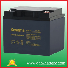 Batterie profonde du cycle AGM de 12V 40ah pour l'éclairage de secours