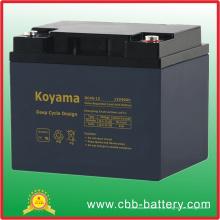Bateria profunda do ciclo AGM de 12V 40ah para a iluminação de emergência