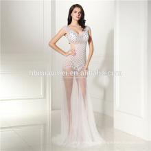 Vestidos de recepção premium V Esfinge pontuação lantejoulas Sexy cauda de peixe High End vestidos de noite