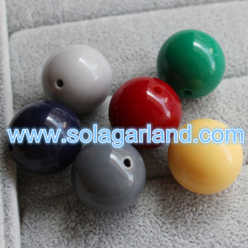 6-20MM Acrylic Opaque Round Beads Charms For Bracelet Jewellery Making
