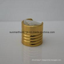 24/410 Capsules de disque à visser en aluminium doré