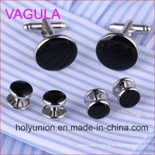 VAGULA Qualité New Silver Gemelos boutons de manchettes collier en 6PCS Set (295)