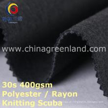 Rayon de malha de poliéster tecido de mergulho para roupas vestido (gllml395)