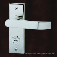 Poignée à levier en acier inoxydable Lockset avec plaque arrière