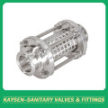Sanitary Clamped Straight Sight Glass with protection net