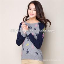 suéter de las muchachas del jersey del diseño del suéter del diseño de las muchachas del suéter para la muchacha