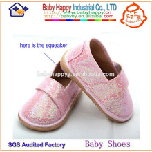 New design hot sale toddler squeaky shoes for girls