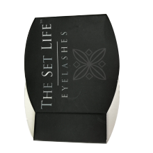 Black Matte Lamination Acrylic Tray Eyelashes Paper Box