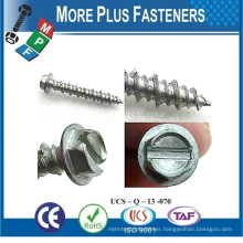 Made In Taiwan Hex Head Slot Recess Round Head Phil Recess Pan Head Pozi Torx Self Tapping Screw