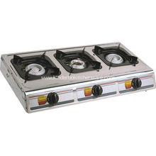 Table gas cooker burner stainless steel top