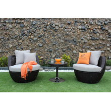 High End All Weather Outdoor Set de jantar Poly Rattan Wicker Furniture