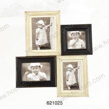 Marco de fotos de madera con láser en apertura múltiple