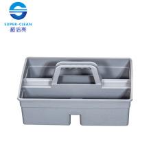 Cubo plástico pequeño de la herramienta en gris (S) (B-039B)