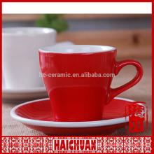 HCC ceramic engrave cup and saucer, best quality ceramic planter saucer