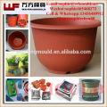 Plastic injection flower pot mould with Hot runner Outdoor Garden Flower Pot Mould Moldes de macetas
