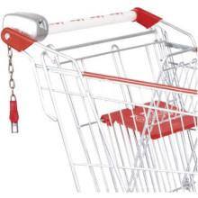Hot vendas compras carrinho porta-chaves moeda