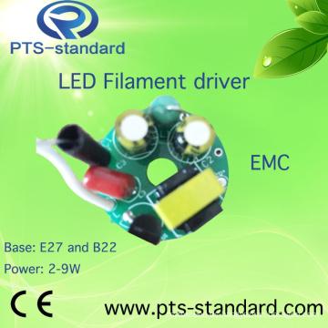 2W/3W/4W/5W/6W/7W/8W E14 LED controlador para bombilla con EMC