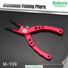 Alicates de pesca de alumínio noval com cortadores de tungstênio