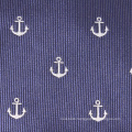 Mens Luxury Fashion Woven Anchor Private Label Tie Made of 100% Silk