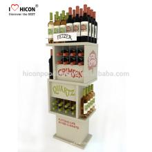 Verkaufen Sie mehr Wein mit schönen kundengebundenen kommerziellen Liquor Whisky Wein hölzernen Glas Display Schrank