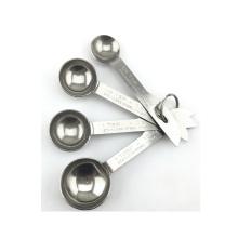 4pcs metal measuring spoons stainless steel measuring scoops
