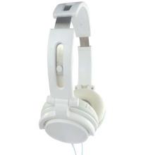 Casque stéréo pour casque en acier blanc avec casque d'écoute
