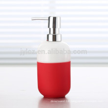 hotel liquid dispenser with plastic pump and silicone band