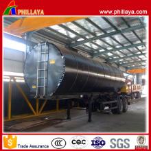 Semi-reboque do tanque do asfalto da capacidade dos eixos dobro 20-50 Cbm