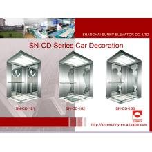Decoración de la cabina del elevador con panel de grabado (SN-CD-161)