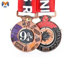 Logotipo personalizado esmalte milagroso diecast medallas