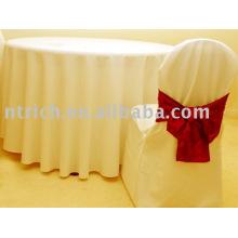 Elegante capa de cadeira do banquete & toalha de mesa