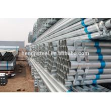 Usine GI Round ss400 tuyau en acier galvanisé pour vente chaude
